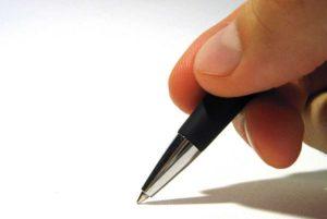 écriture manuelle